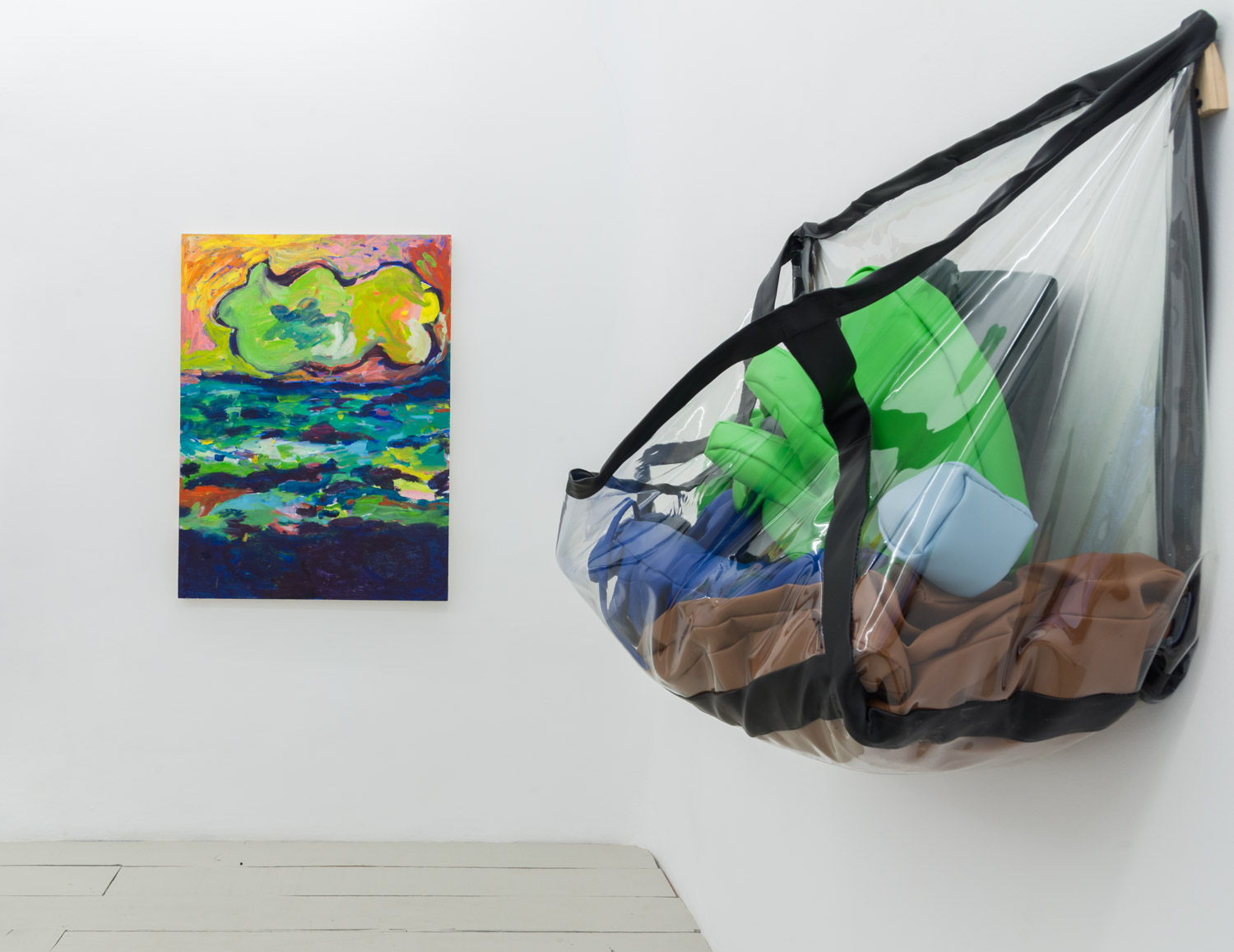 Installation view Flat Earthers / Freeman + Hood + Robertson + Rubenstein